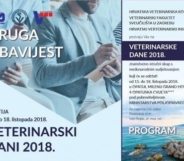 Veterinarski dani u Opatiji 15. – 18. listopada 2018.
