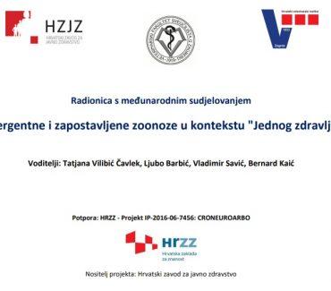 """Radionica emergentne i zapostavljene zoonoze u kontekstu """"Jednog zdravlja"""""""