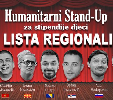 Humanitarni Stand-up: Top Lista Regionalista