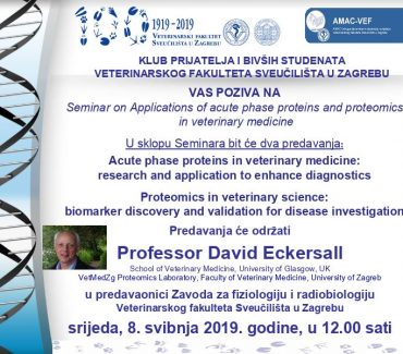Seminar on Applications of acute phase proteins and proteomics  in veterinary medicine
