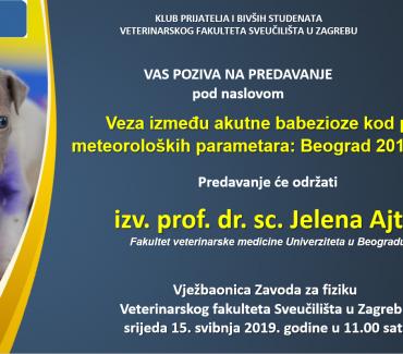 Veza između akutne babezioze kod pasa i meteoroloških parametara: Beograd 2013.-2016