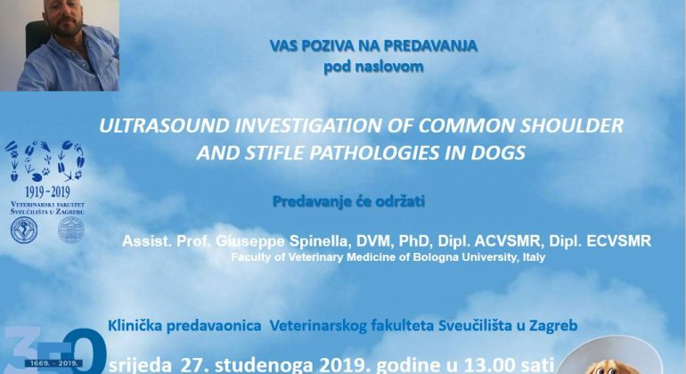 PREDAVANJE: Ultrasound investigation of common shoulder and stifle pathologies in dogs