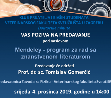 PREDAVANJE: Mendeley – program za rad sa znanstvenom literaturom