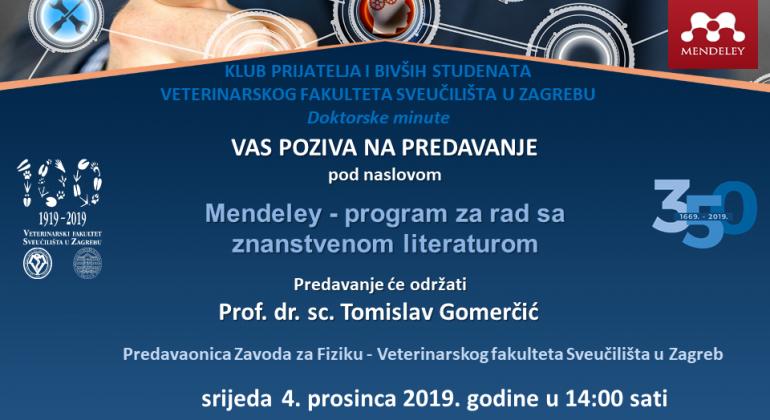 PREDAVANJE: Mendeley – program za rad sa znanstvenom literaturom