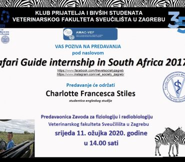 PREDAVANJE: Safari Guide internship in South Africa 2017