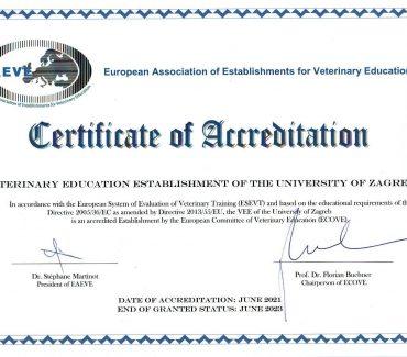 Akreditacija Veterinarskog fakulteta Sveučilišta u Zagrebu